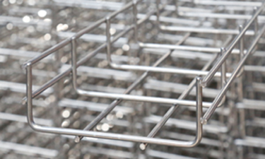 Wire mesh cable trays. Stainless steel cable trays